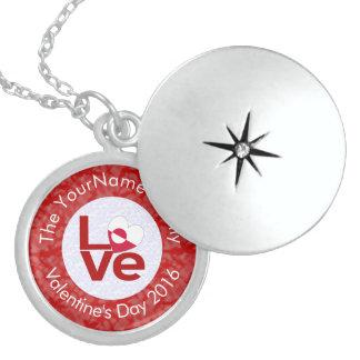Greenlander LOVE White on Red Locket Necklace