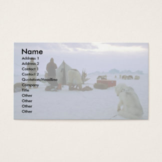 Greenlandic camp business card