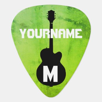 Greenleaf  Personalized Guitar Pick by mixedworld at Zazzle