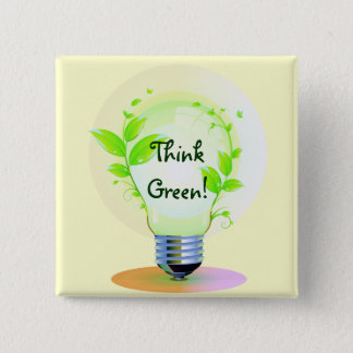 GreenLight, ThinkGreen! Pinback Button