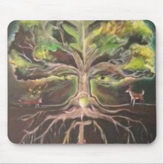 Greenman-árbol de la vida Mousepad - modificado pa