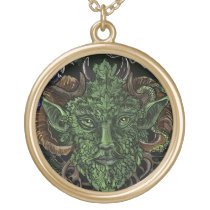 GreenMan Face~ necklace