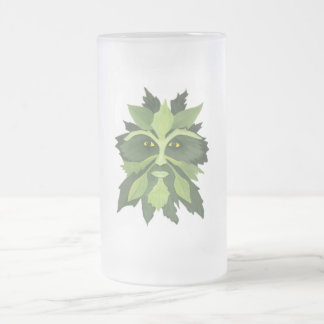 Greenman Frosted Glass Beer Mug