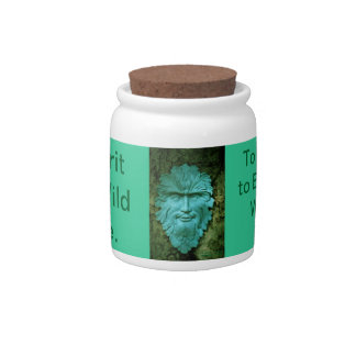 Greenman Herb & Treat Jar. Candy Dishes