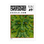 Greenman Holly Postage Stamp