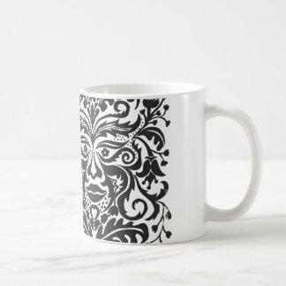 GreenMan in Black & White Classic White Coffee Mug