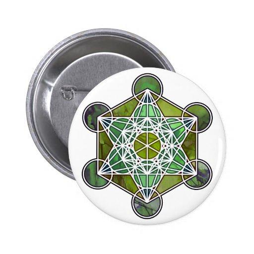GreenMetatronCube Pin