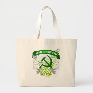 GreenNewRed Large Tote Bag