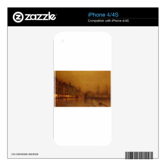 Greenock Dock by John Atkinson Grimshaw Skin For iPhone 4