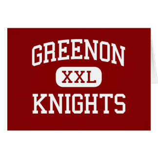 Greenon - Knights - High School - Springfield Ohio Card