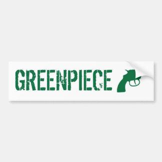 greenpiece etiqueta de parachoque