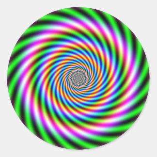 Greenpink Optical Illusion Classic Round Sticker