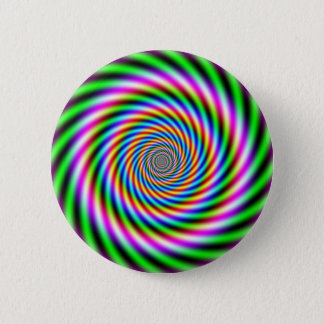 Greenpink Optical Illusion Pinback Button