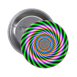 Greenpink Optical Illusion Pinback Button