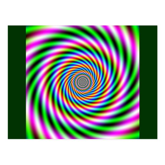 Greenpink Optical Illusion Postcard