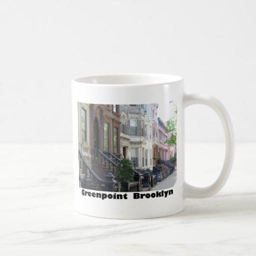 Greenpoint Brooklyn Brownstone Buildings Classic White Coffee Mug