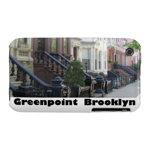 Greenpoint Brooklyn Brownstones Blackberry Curve C iPhone 3 Covers