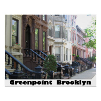 Greenpoint Brooklyn Poster Print on Canvas