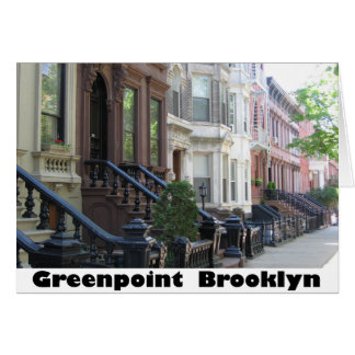 Greenpoint Brookyly Brownstone Buildings Card