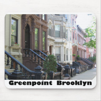 Greenpoint Brookyly Brownstone Buildings Mouse Pad