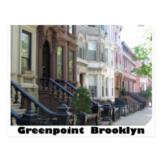 Greenpoint Brookyly Brownstone Buildings Postcard
