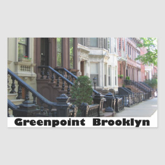 Greenpoint Brookyly Brownstone Buildings Rectangular Sticker