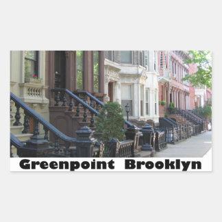 Greenpoint Brookyly Brownstone Buildings Rectangular Sticker