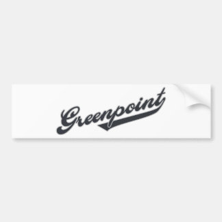 Greenpoint Car Bumper Sticker
