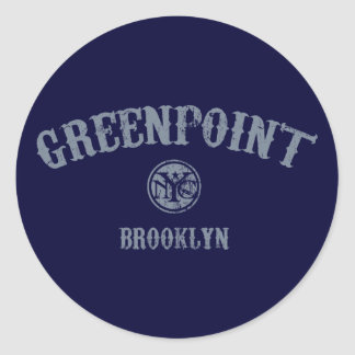 Greenpoint Classic Round Sticker