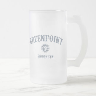Greenpoint Frosted Glass Beer Mug