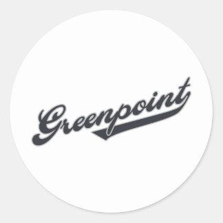 Greenpoint Pegatinas Redondas