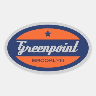 Greenpoint Calcomanía De Oval Personalizadas