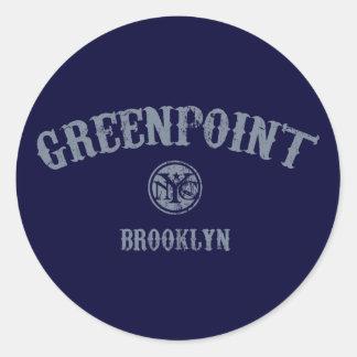 Greenpoint Pegatina Redonda