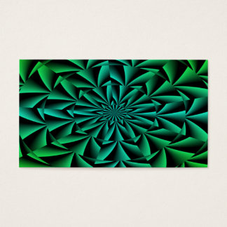 Greens and Blues Round Optical Illusion Business Card