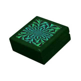 Greens and Blues Round Optical Illusion Gift Boxes