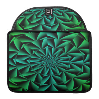 Greens and Blues Round Optical Illusion Sleeves For MacBook Pro