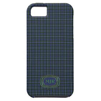 Greens Blues Scottish-style Tartan Plaid Monogram iPhone SE/5/5s Case