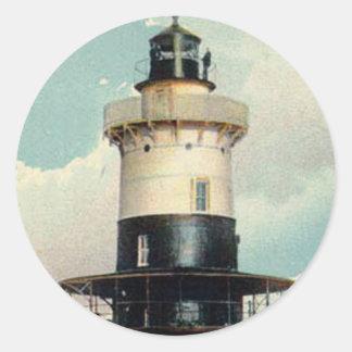 Greens Ledge Lighthouse Classic Round Sticker