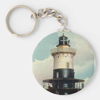 Greens Ledge Lighthouse Keychain