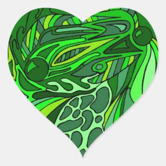 Greens Seven Heart Sticker