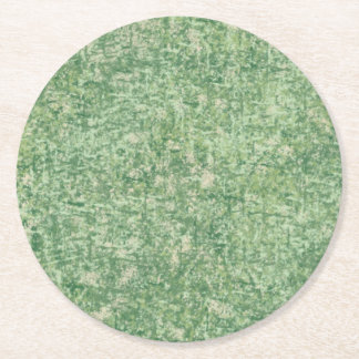Greens Textured by Shirley Taylor Round Paper Coaster