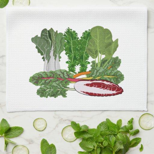 Greens Vegetarian Vegan Vegetable Lover Hand Towels