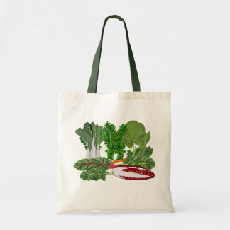 Greens Veggie Lovers Vegetables Budget Tote Bag