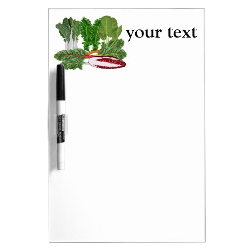 Greens Veggie Lovers Vegetables Dry-Erase Whiteboard