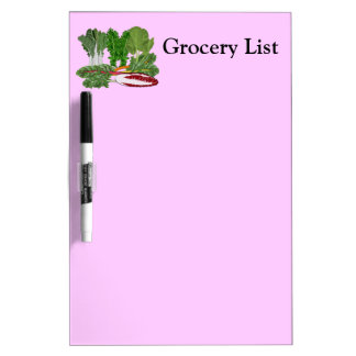 Greens Veggie Lovers Vegetables Grocery List Med Dry-Erase Board