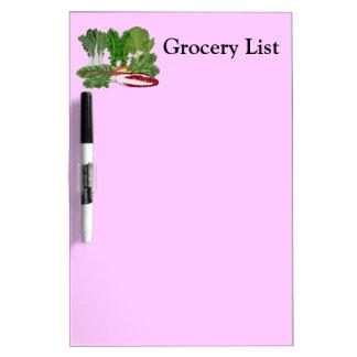 Greens Veggie Lovers Vegetables Grocery List Med Dry Erase Whiteboards