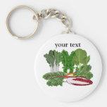Greens Veggie Lovers Vegetables Keychain
