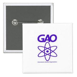 Greensboro Atheist Organization button