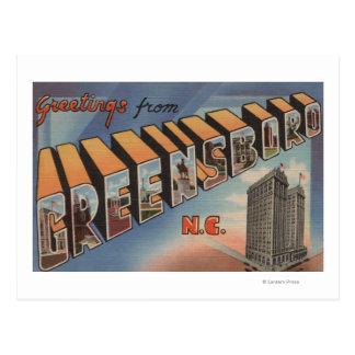 Greensboro, Carolina del Norte - escenas grandes Postal