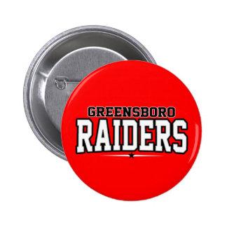 Greensboro High School; Raiders Pinback Buttons